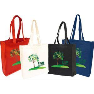10oz Navy Canvas Shopper Bag with gusset- MCK Promotions