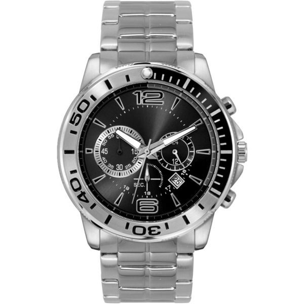 Black chronograph watch- MCK Promotions