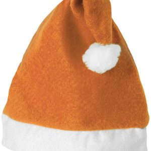 Christmas Hat, orange ,white- MCK Promotions