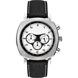 Chronograph watch with leather strap- MCK Promotions