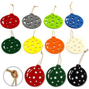 Recycled FELT echo Christmas baubles- MCK Promotions