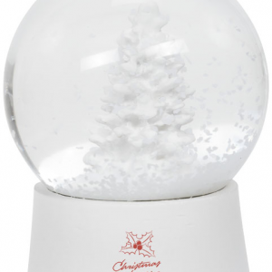 Snow Globe, white (with christmas spirit logo)- MCK Promotions