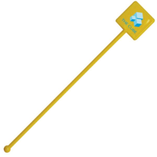 Square Headed Cocktail Stirrer - All Colours (yellow)- MCK Promotions