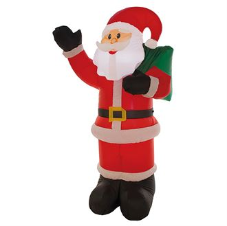 1.8m Inflatable waving Santa - MCK Promotions