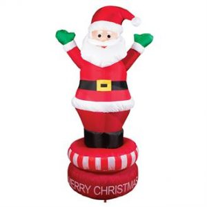 1.8m inflatable rotating Santa - MCK Promotions