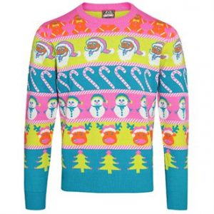 Adult multi character Christmas jumper- MCK Promotions