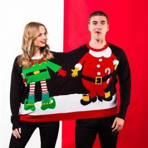 Adults double Santa Elf Christmas jumper - MCK Promotions