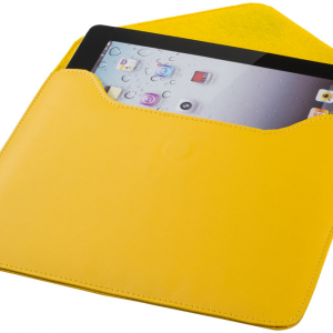 Boulevard tablet sleeve, yellow- MCK Promotions