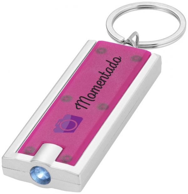 Castor LED keychain light, magenta- MCK Promotions