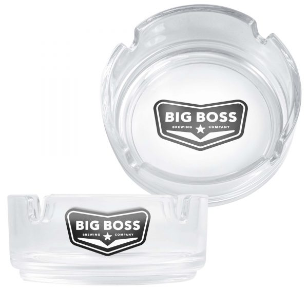 Clear Glass Ashtray (3.5inches 85mm Diam.)- MCK Promotions
