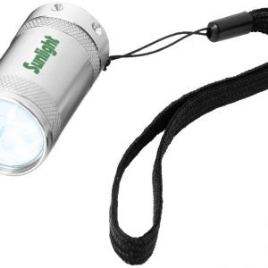 Comet 5-LED mini torch light, silver - MCK Promotions