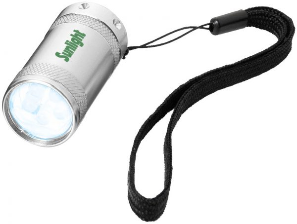 Comet 5-LED mini torch light, silver - MCK Promotions