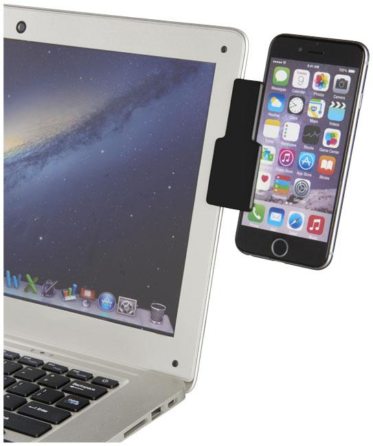 Connect laptop smartphone clip, solid black- mck promotions