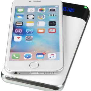 Constant 10000MAH Wireless Power Bank with LED, white- MCK Promotions