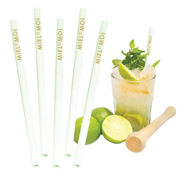 Edible Lime Flavoured Straws- MCK Promotions