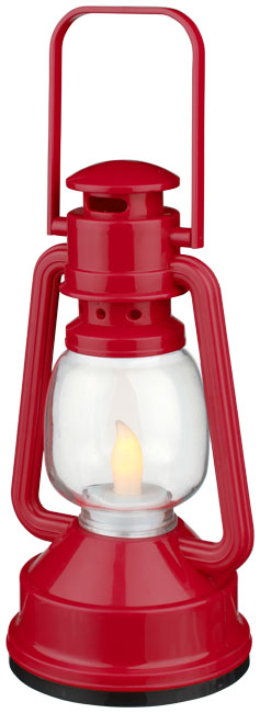 Emerald LED lantern light, red - MCK Promotions