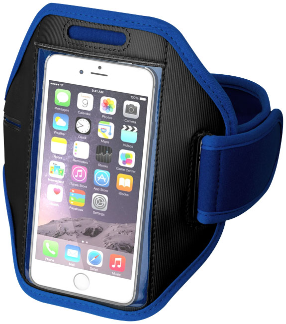 Gofax touchscreen smartphone armband, royal blue- MCK Promotions