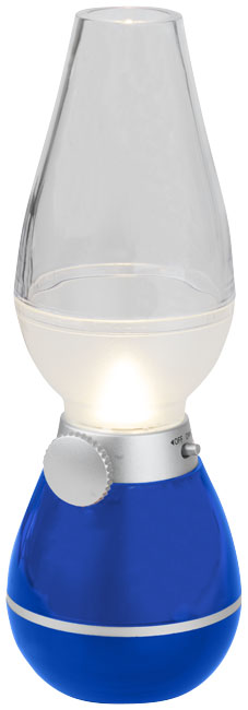 Hurricane lantern light with blow sensor, royal blue- MCK Promotions