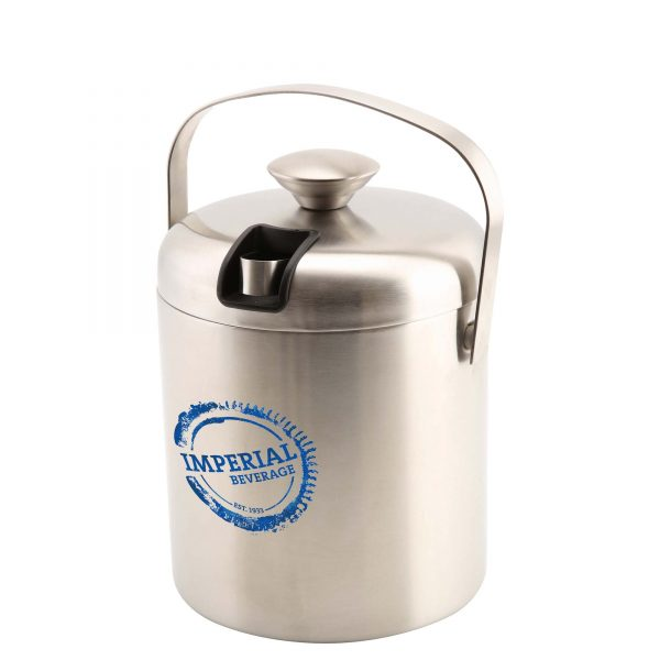 Insulated Stainless Steel Ice Bucket & Tong (1.2L) (sample 2)- MCK Promotions