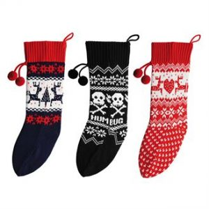 Knitted Christmas stocking - MCK Promotions