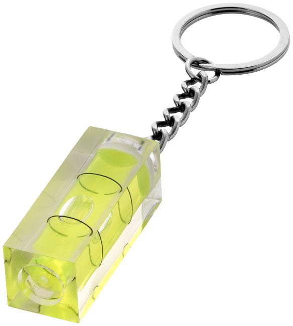 Leveler spirit level keychain, transparent