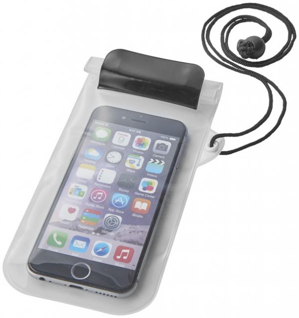 Mambo waterproof smartphone storage pouch, solid black transparent- MCK Promotions