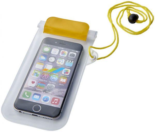 Mambo waterproof smartphone storage pouch. (yellow)- MCK Promotions