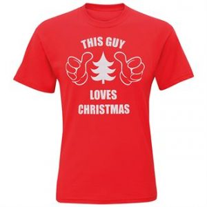 Men's This Guy Loves Christmas short sleeve tee - MCK Promotions