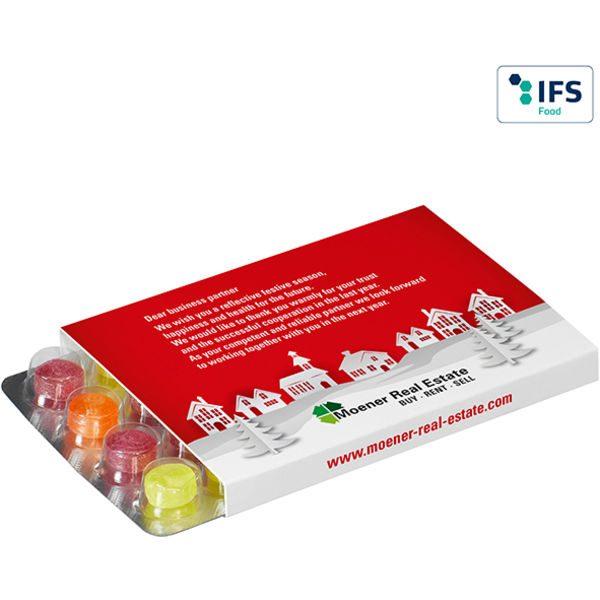 Promo Slipcase for World's Smallest (Advent) Calendar with Pulmoll Pastilles- MCK Promotions