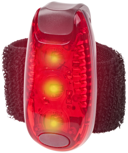 Rideo red reflector light, red solid black- MCK Promotions