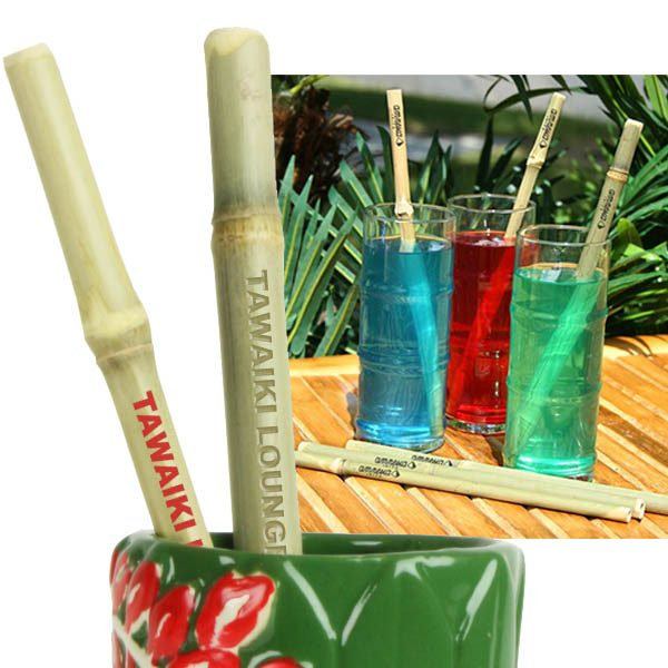 Thick Bamboo Straws- MCK Promotions