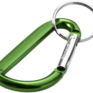 Timor carabiner keychain, green - MCK Promotions