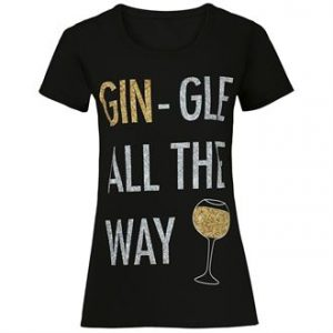 Women's Gin-gle all the way short sleeve tee - MCK Promotions