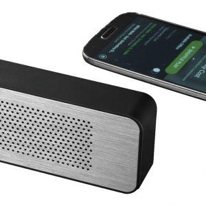 Zabrak Bluetooth® Speaker, solid black silver - MCK Promotions
