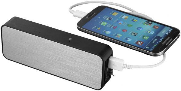 Zabrak Bluetooth® Speaker, solid black silver -(image 2) MCK Promotions