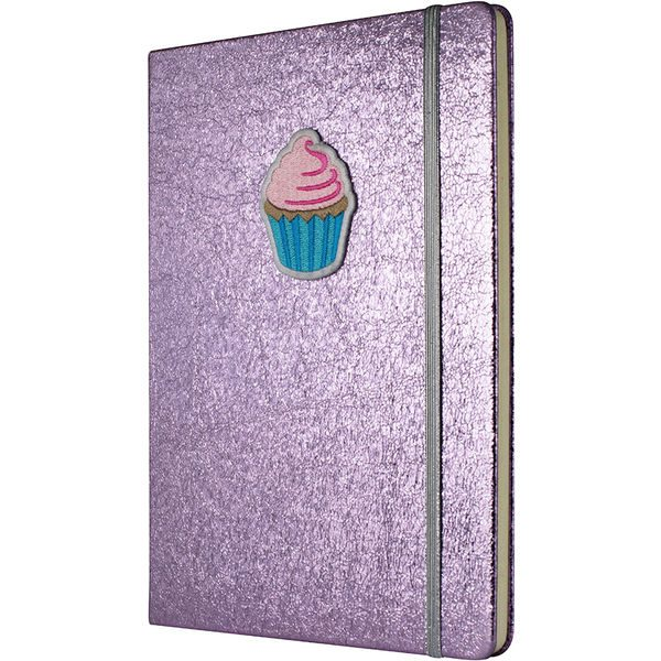 Crushed Foil Patch Notebook - Pink- MCK Promotions