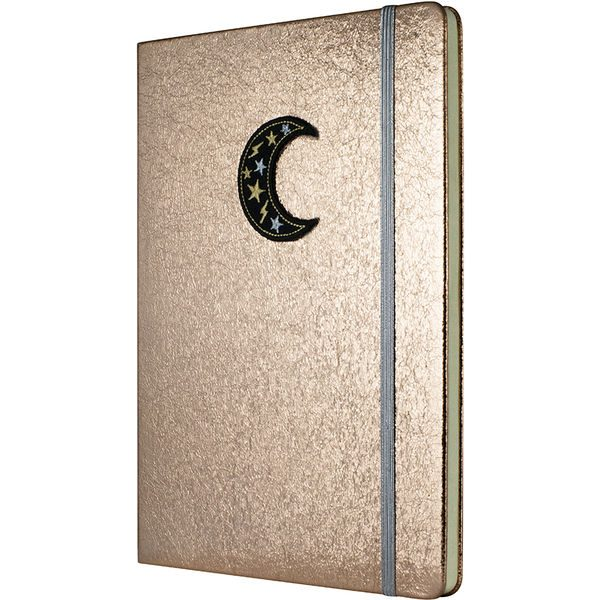 Crushed Foil Patch Notebook - Rose Gold- MCK Promotions
