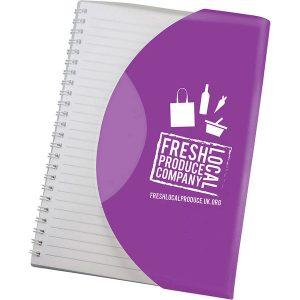 Curve Notebook A6 (purple)- MCK Promotions
