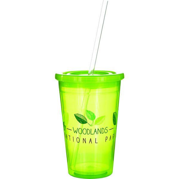 Stadium Cup (translucent lime)- MCK Promotions