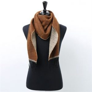 Two-tone scarf (brown)- MCK Promotions