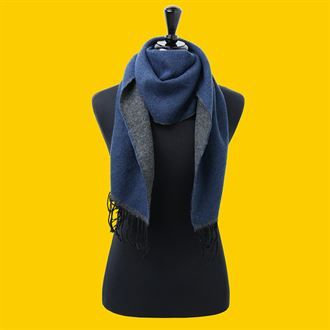 Two-tone scarf (navy)- MCK Promotions