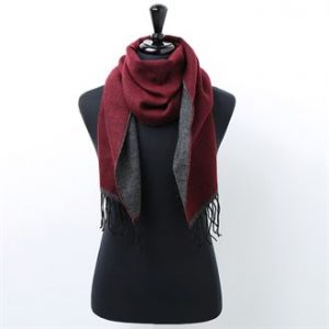 Two-tone scarf (wine)- MCK Promotions