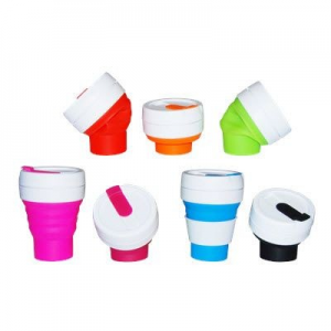 FOLDING COLLAPSIBLE SILICON POCKET CUP - MCK Promotions