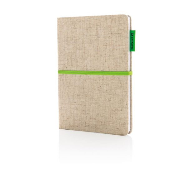 A5 Eco jute cotton notebook- MCK Promotions