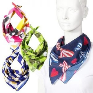 BESPOKE PRINTED COTTON SQUARE BANDANA- MCK Promotions