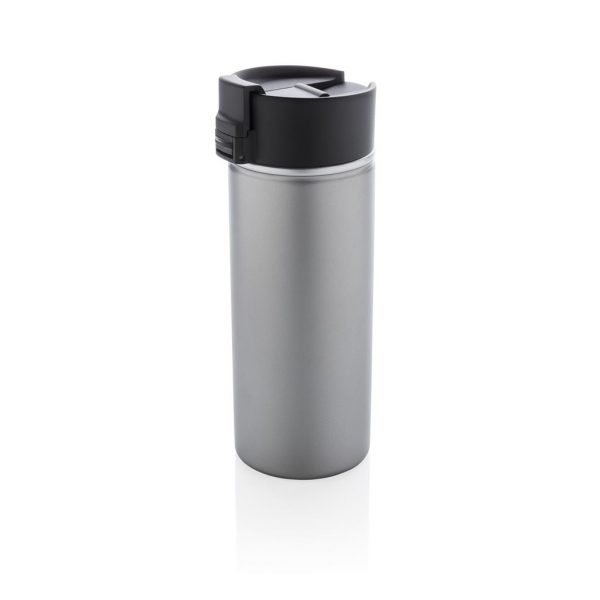 Bogota vacuum coffee mug with ceramic coating, grey- MCK Promotions