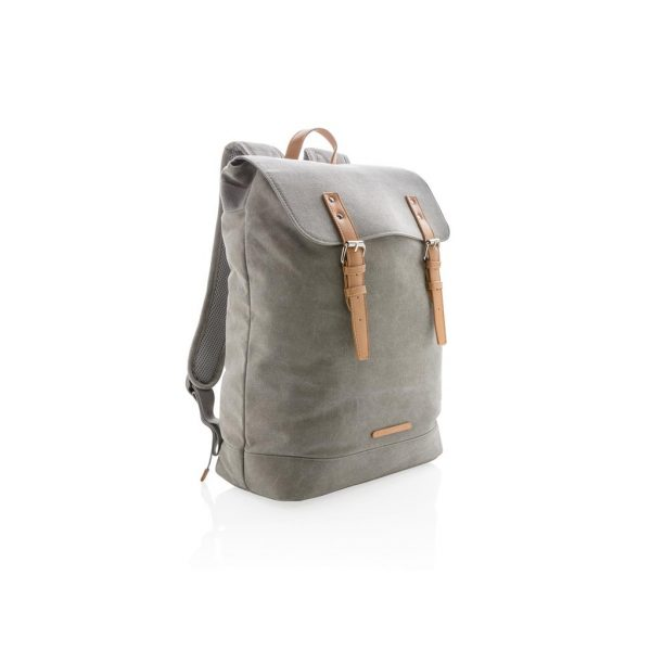 Canvas laptop backpack PVC free- MCK Promotions