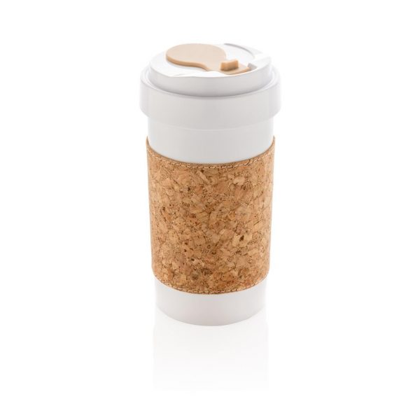 ECO PLA 400ml can with cork sleeve- MCK Promotions