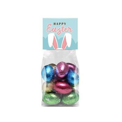 Easter Foiled Chocolate Mini Eggs in Eco Bag- MCK Promotions