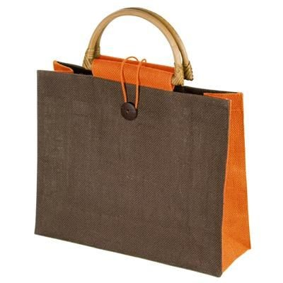 JUTE BAG with Bamboo Grip - MCK Promotions